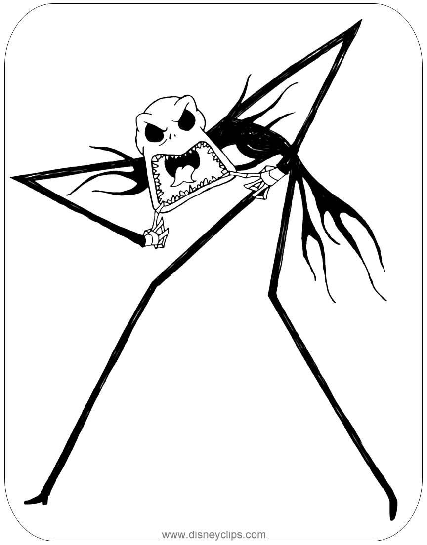 the nightmare before christmas coloring pages disneys