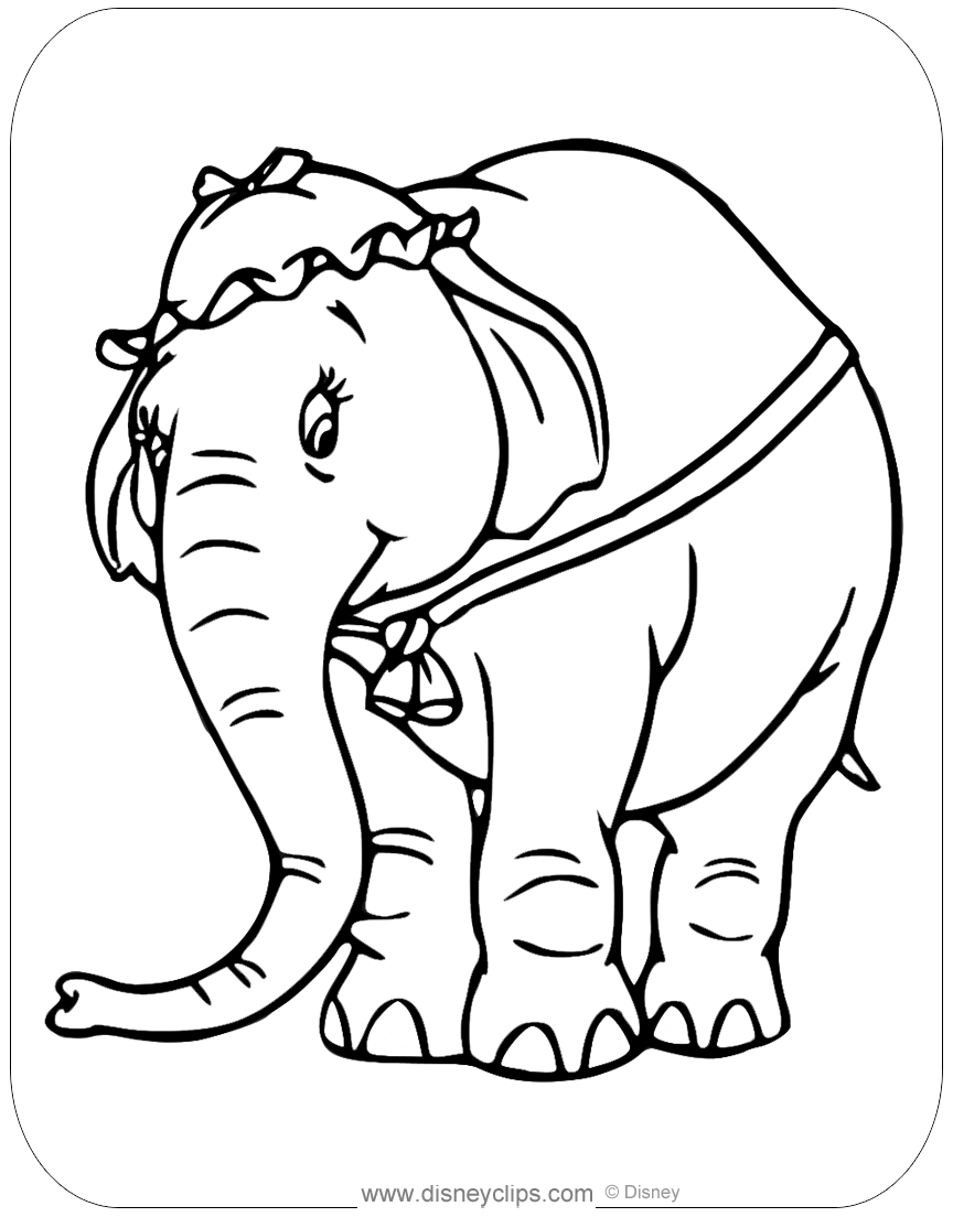 Dumbo Coloring Pages (3) | Disneyclips.com