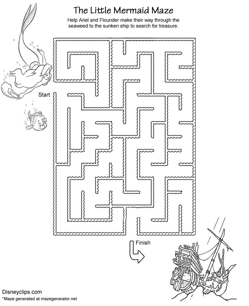 Printable Disney Mazes Disneyclips