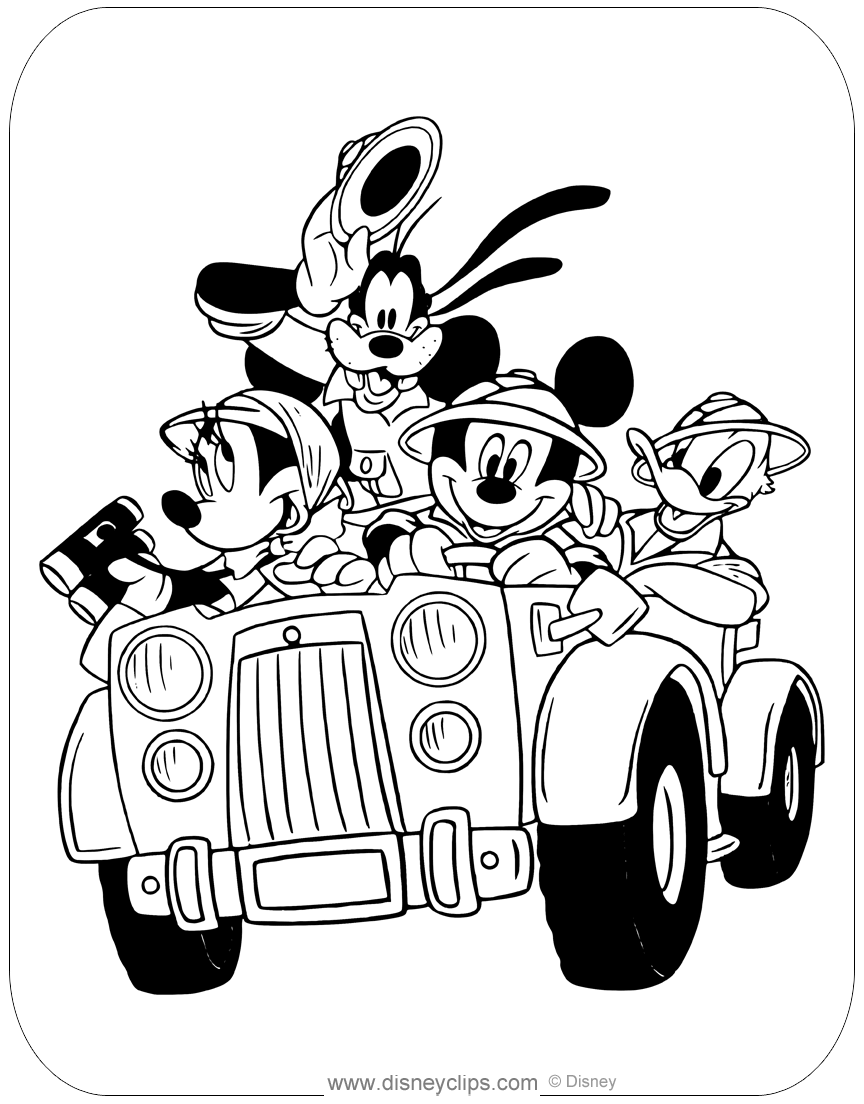 Mickey Mouse Amp Friends Coloring Pages Disneyclips Com