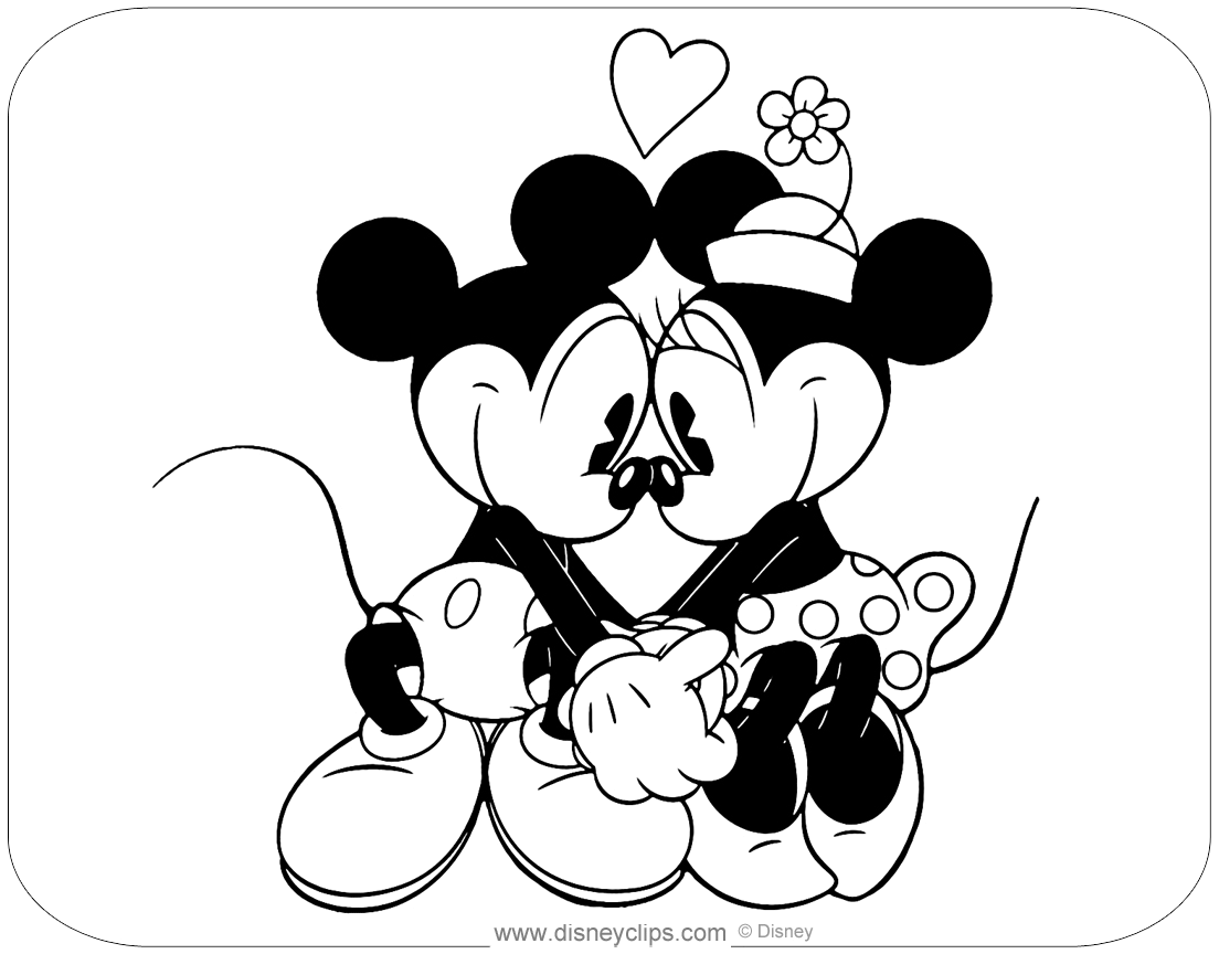 Classic Mickey And Friends Coloring Pages Disneyclips Com