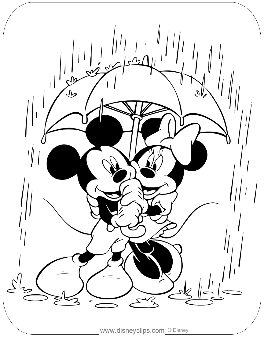 Mickey and Minnie Mouse Coloring Pages | Disneyclips.com