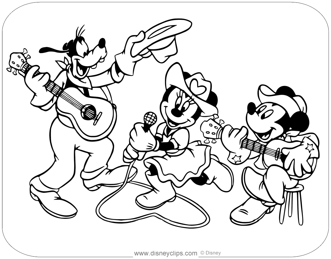 Disney sports coloring pages ~ Mickey Mouse & Friends Coloring Pages | Disneyclips.com