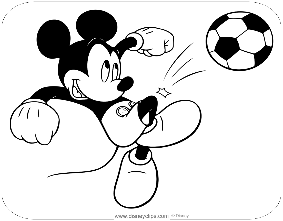 Mickey Mouse Coloring Pages | Disneyclips.com