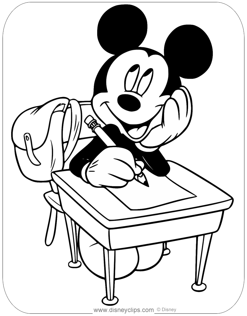 Misc. Mickey Mouse Coloring Pages (2) | Disneyclips.com