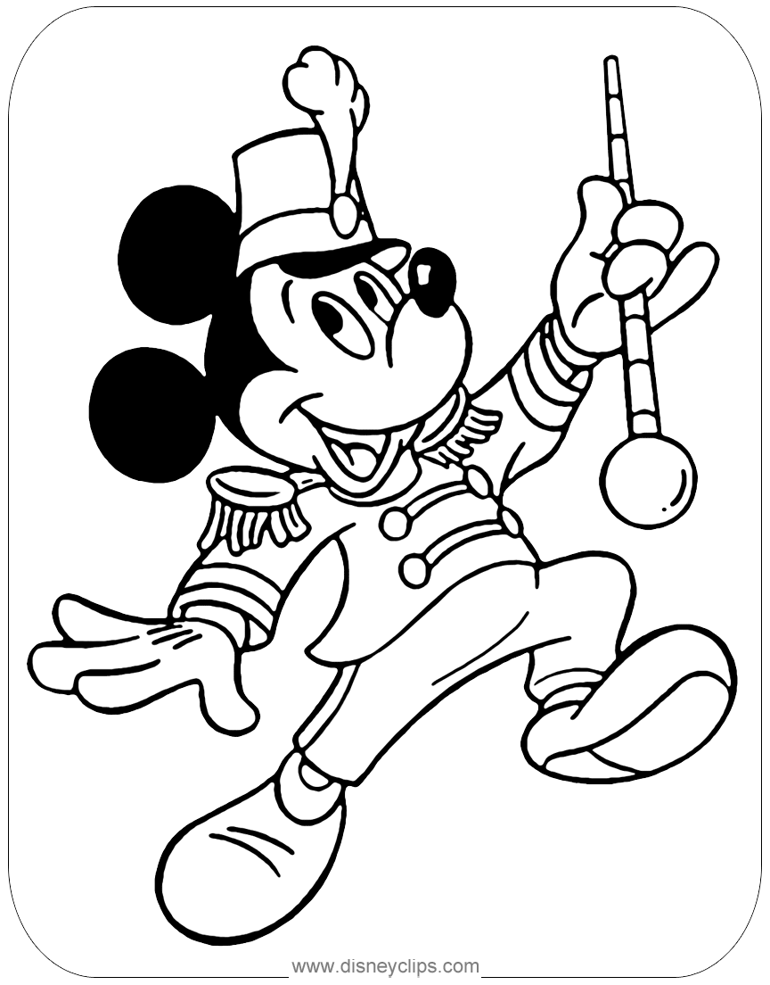disney rides coloring pages | Mickey Mouse Coloring Pages: Misc. Activities ...