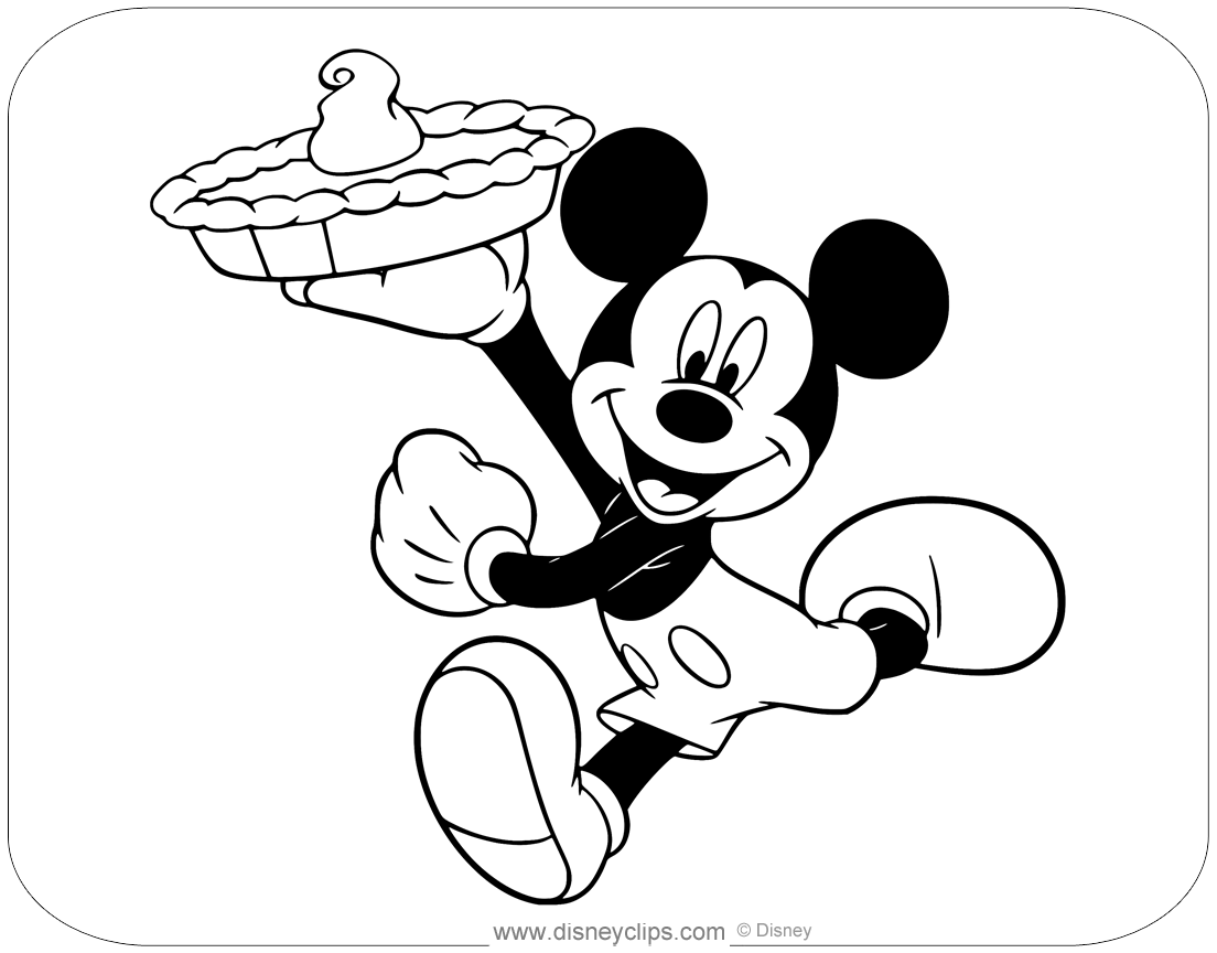 Mickey Mouse Special Events Coloring Pages | Disneyclips.com