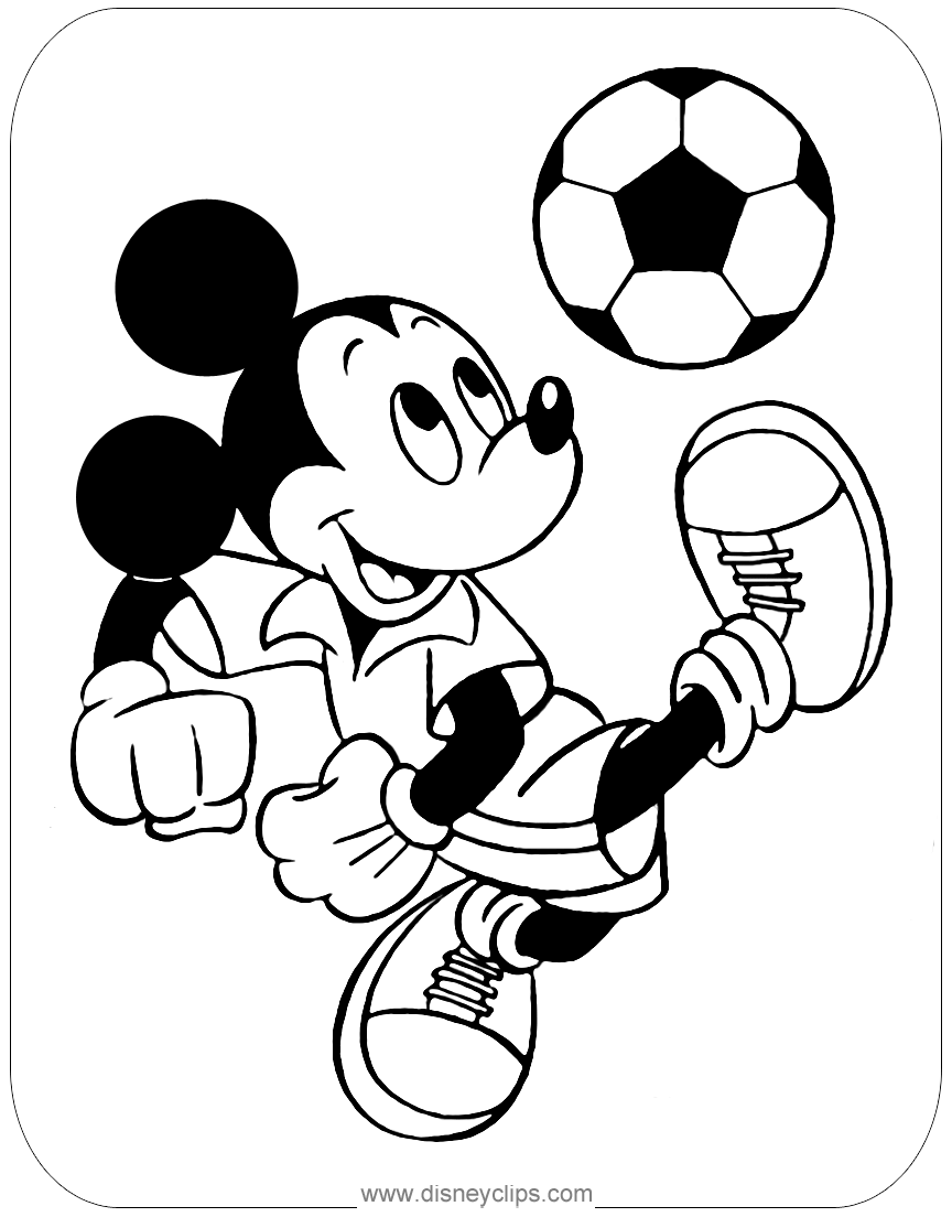 Mickey Mouse Coloring Pages 3