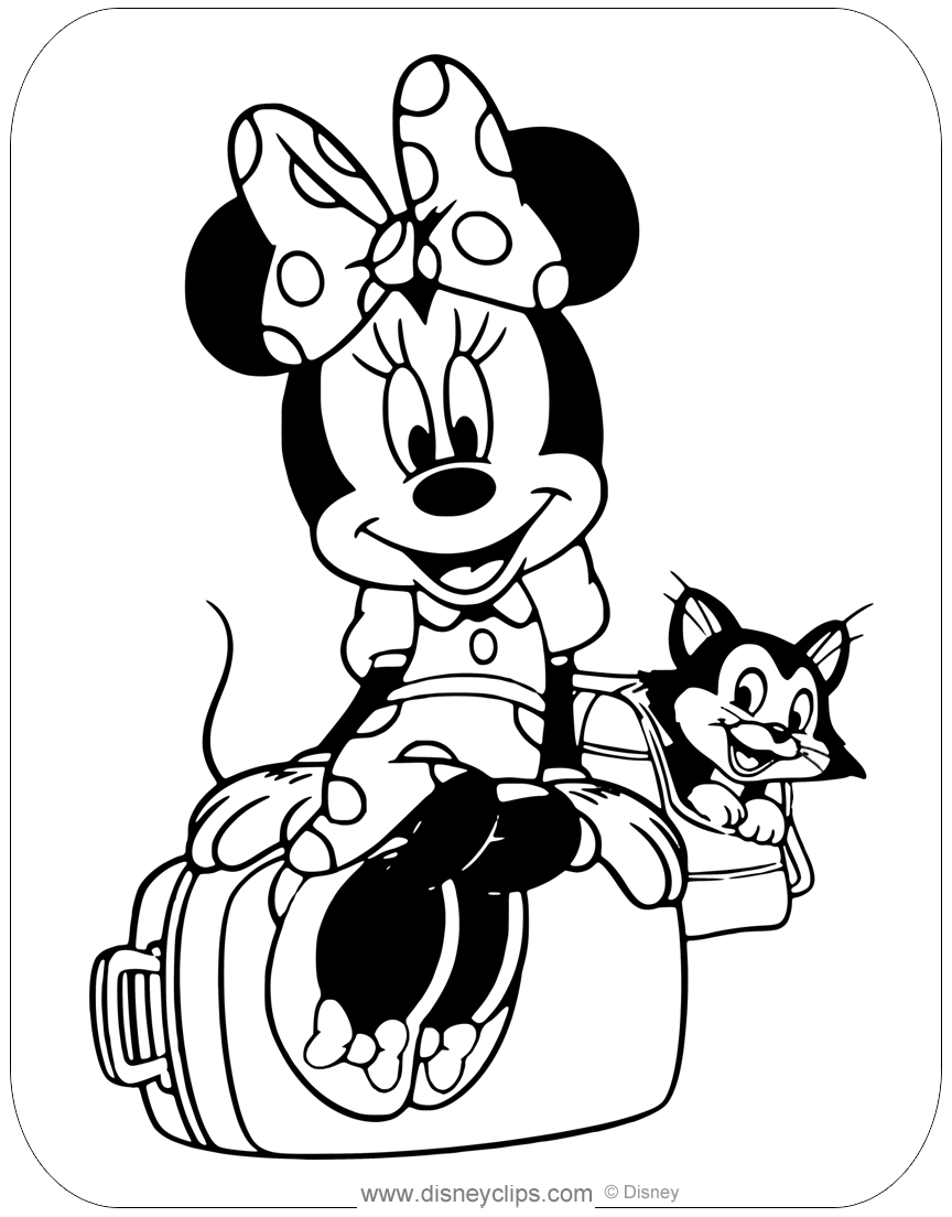 Minnie Mouse Animal Friends Coloring Pages Disneyclips Com