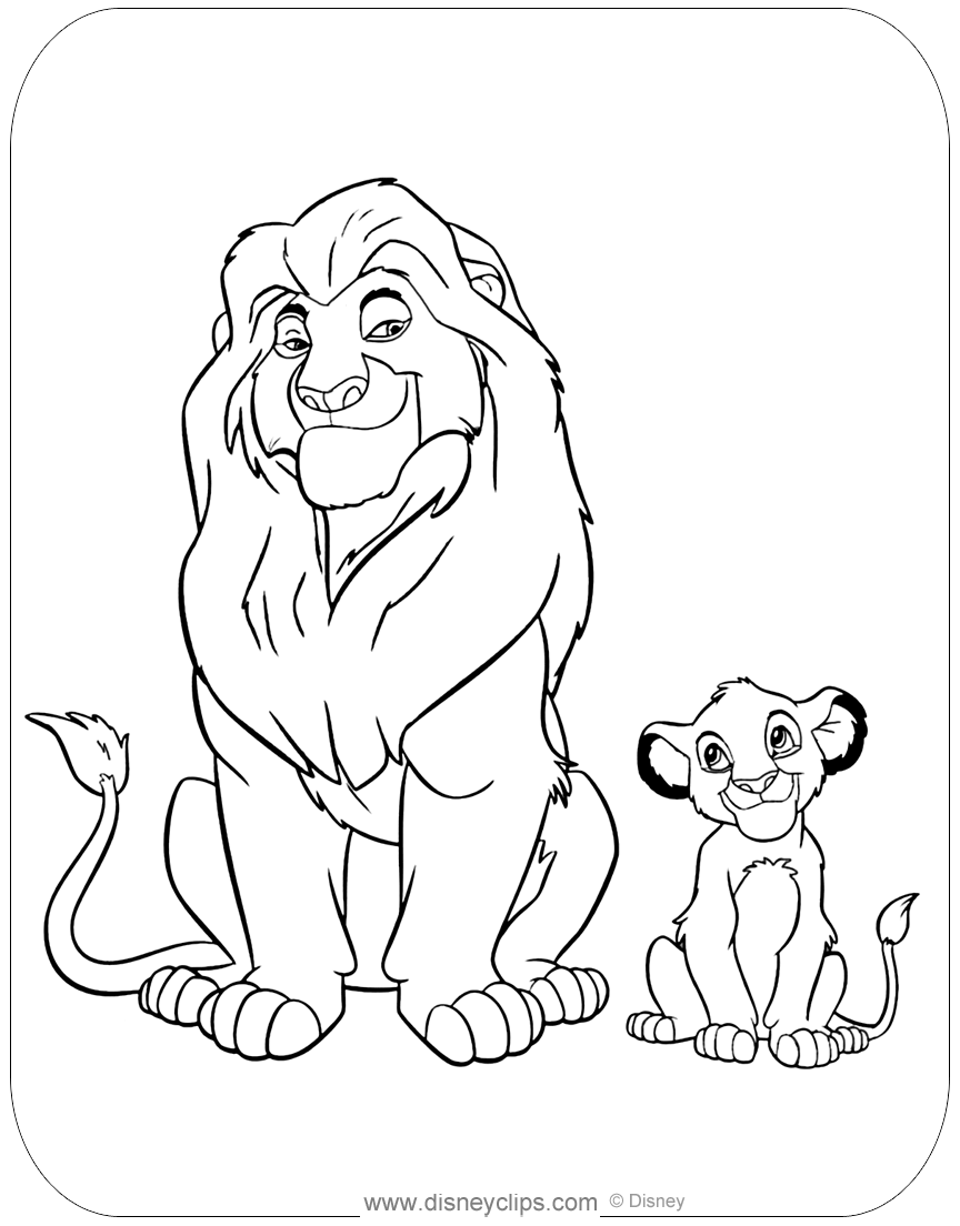 The Lion King Coloring Pages 2 | Disneyclips.com