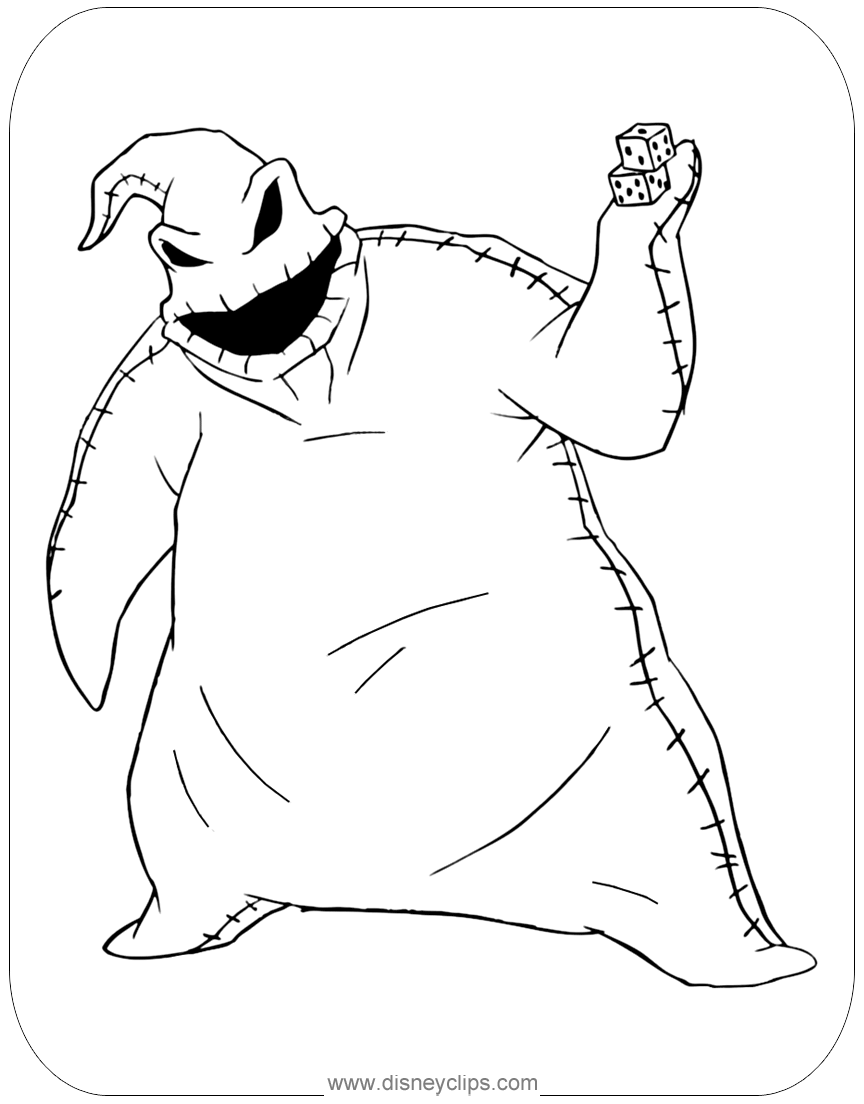 The Nightmare Before Christmas Coloring Pages | Disney\'s World of ...