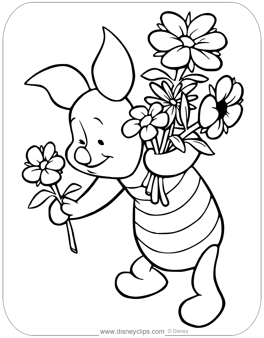 Flower Basket Mothers Day Coloring Page #mothersdayflowers ... | 1104x864