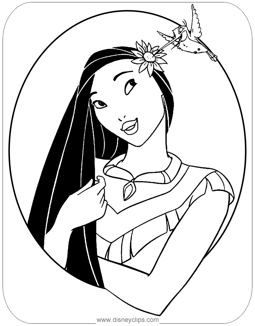 Pocahontas Printable Coloring Pages Disney S World Of Wonders