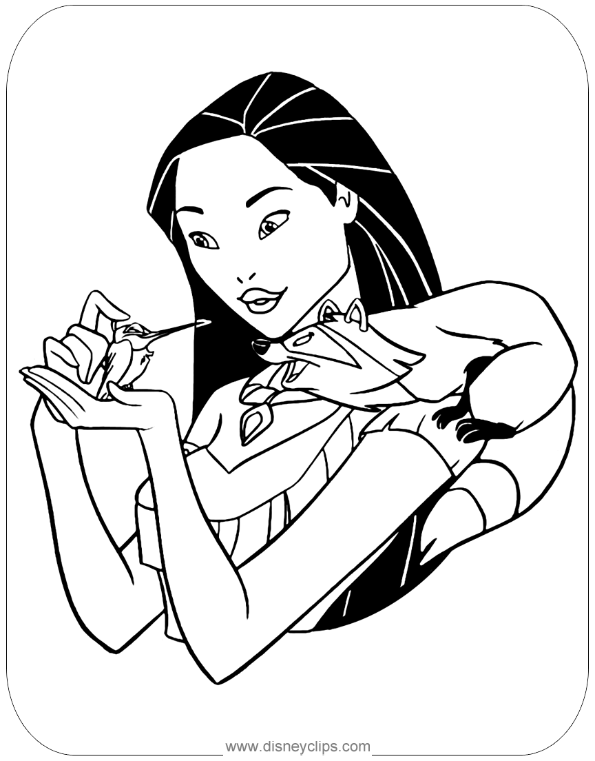 Pocahontas to print for free - Pocahontas Kids Coloring Pages | 1104x864