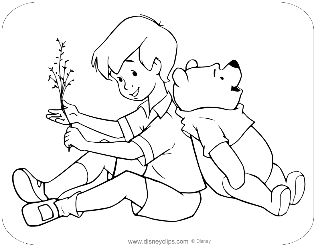 Christopher Robin Coloring Pages Disneyclips Com
