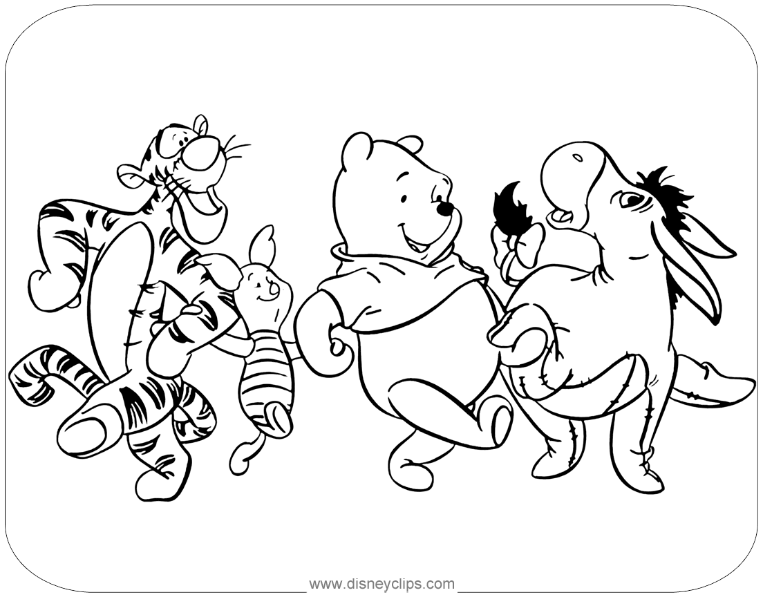 Winnie the Pooh & Friends Coloring Pages | Disney\'s World of Wonders