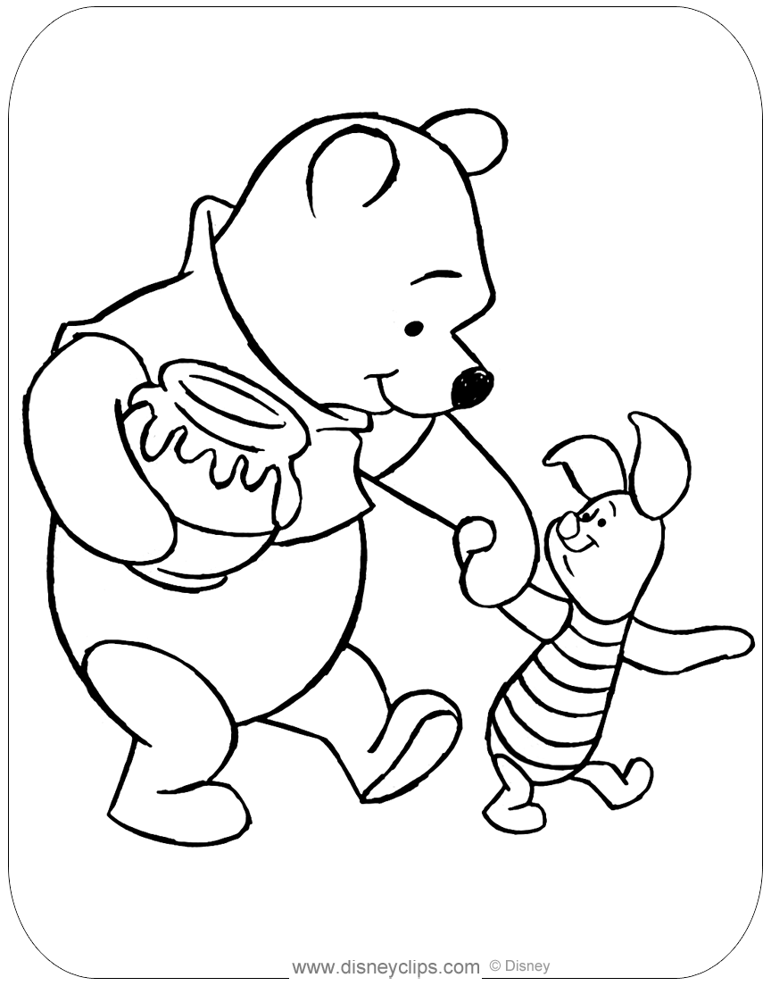 Winnie the Pooh & Friends Coloring Pages 2 | Disneyclips.com