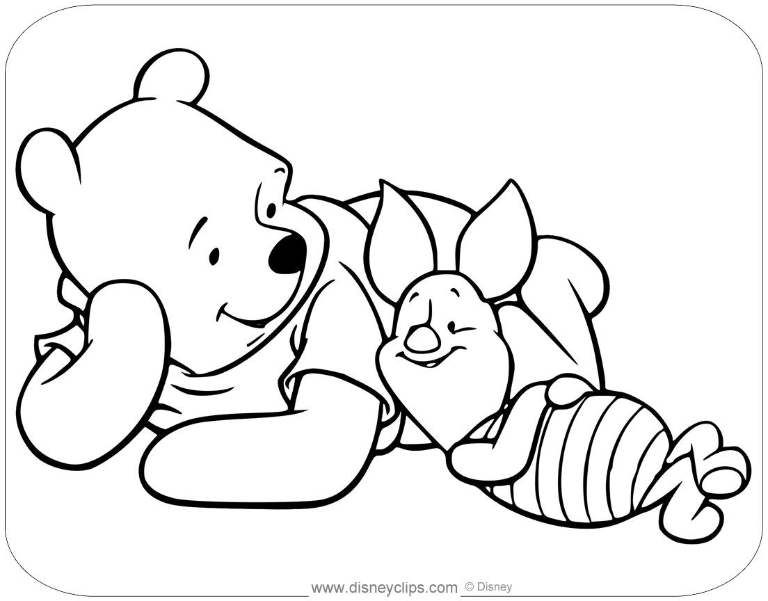 Pooh And Piglet Coloring Pages Coloring And Drawing