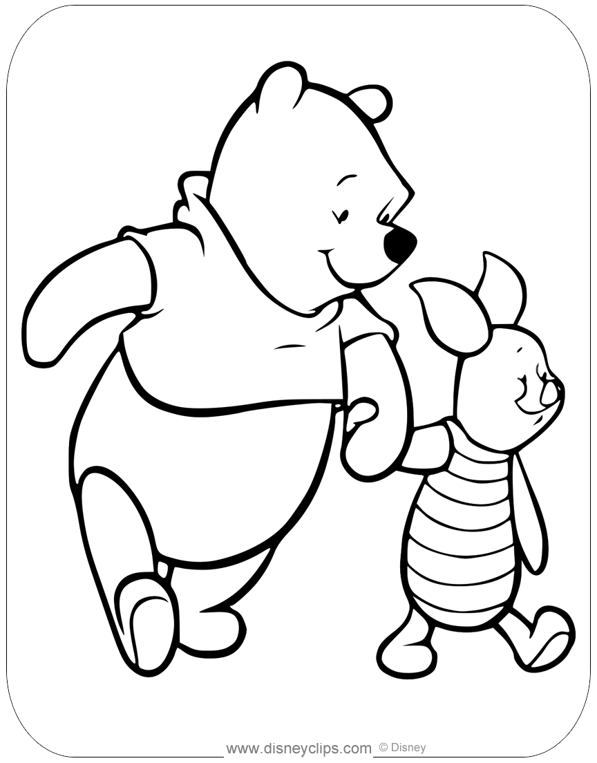winnie the pooh  friends coloring pages 2  disneyclips