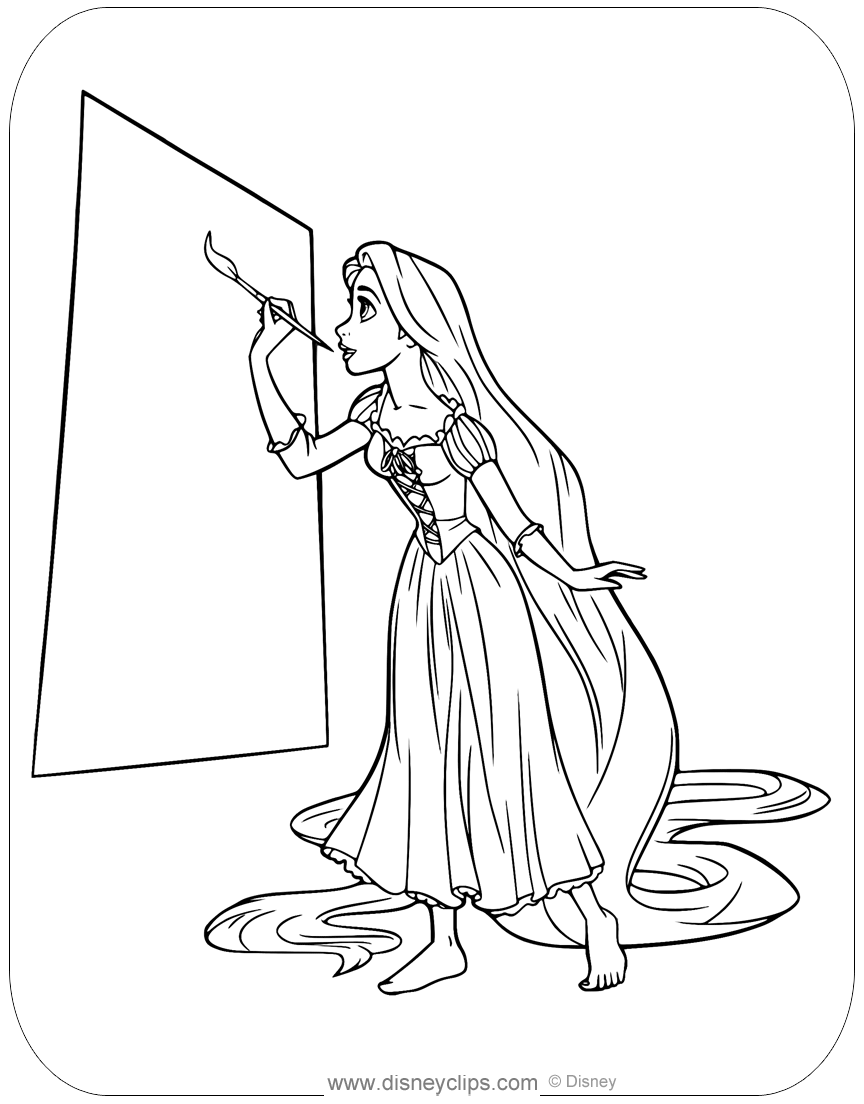 Tangled Coloring Pages (2) | Disneyclips.com