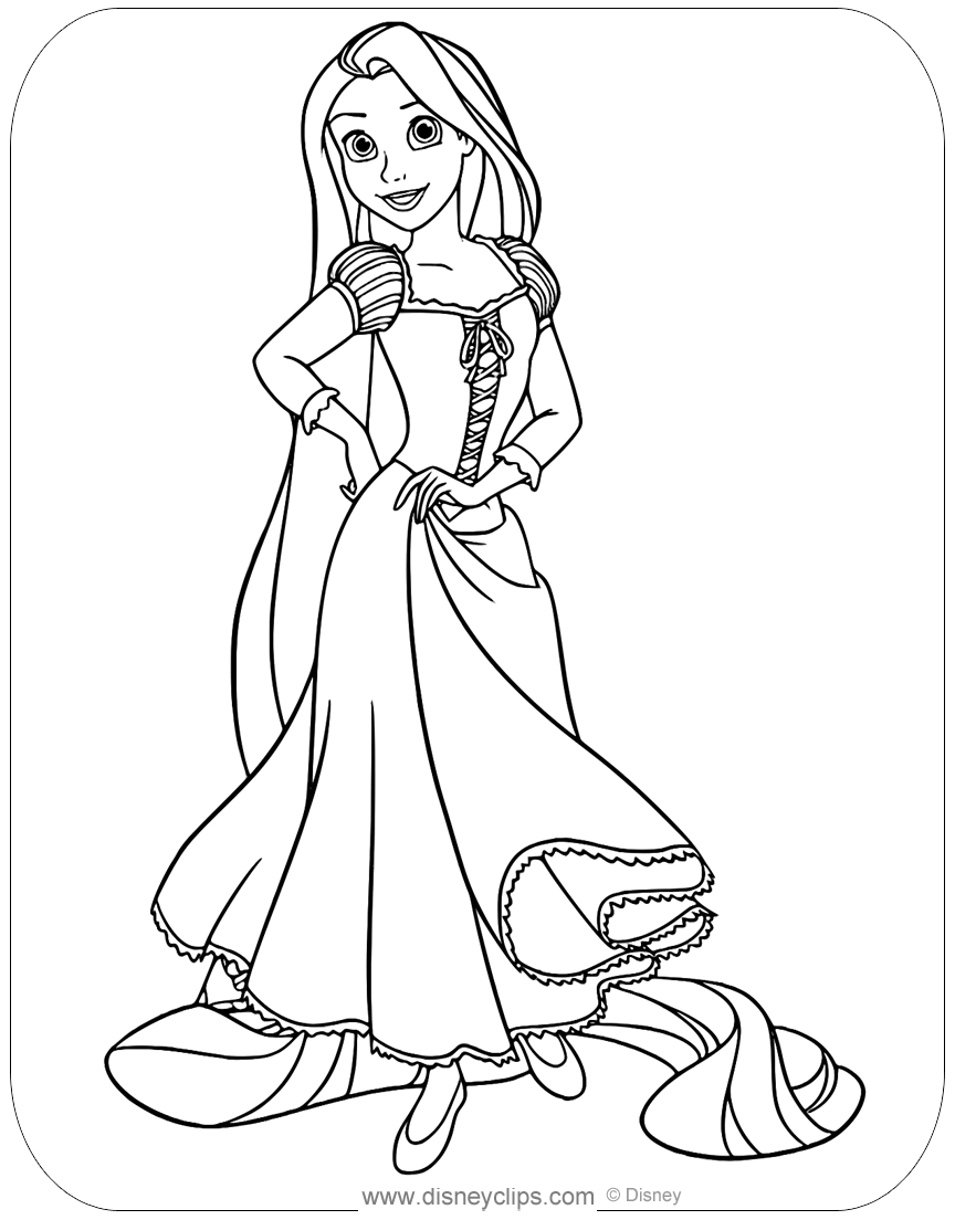 Disney's Tangled Coloring Pages 2 | Disneyclips.com