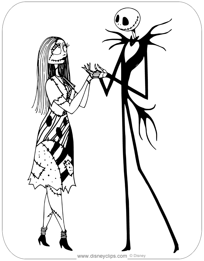 Top 25 'Nightmare Before Christmas' Coloring Pages for Your Little ... | 1104x864