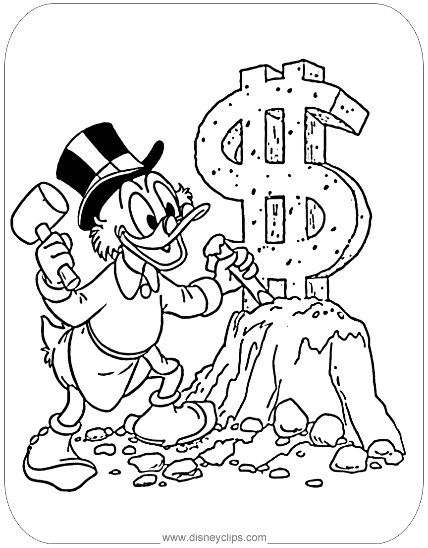 ducktales coloring pages 2 disney s world of wonders Latex Sculpting coloring page scrooge sculpting