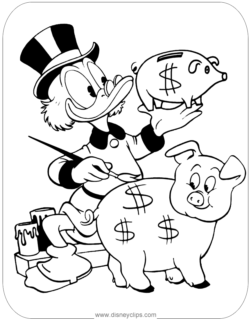 disney clips coloring pages   Ducktales Coloring Pages 2   Disneyclips.com