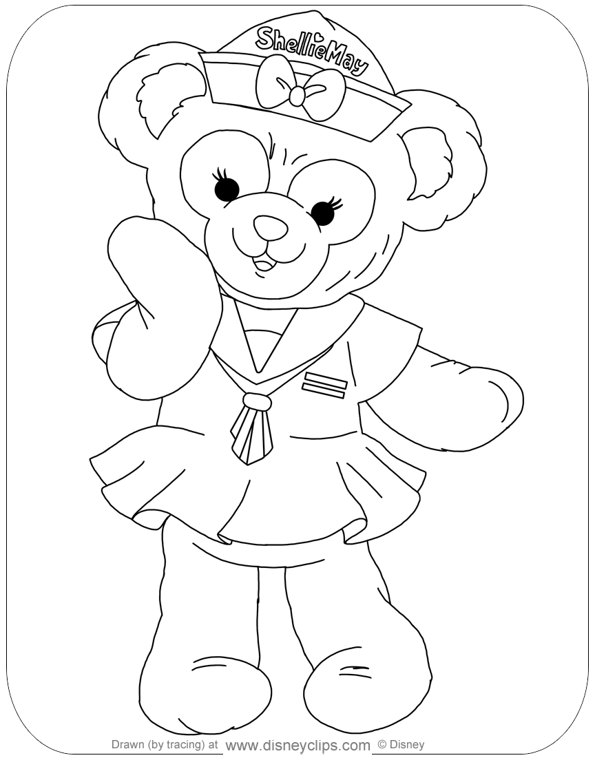 Duffy the Bear and Friends Coloring
