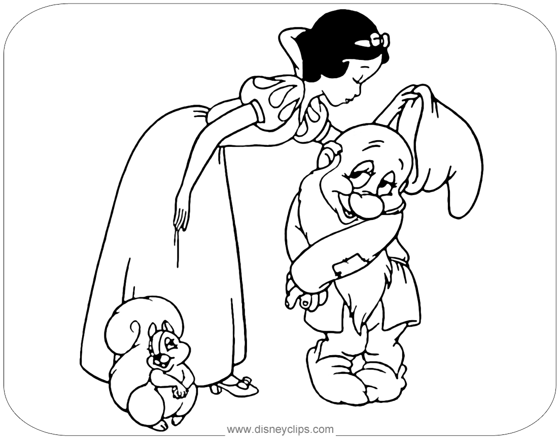disney clips coloring pages   Snow White Coloring Pages 2   Disneyclips.com