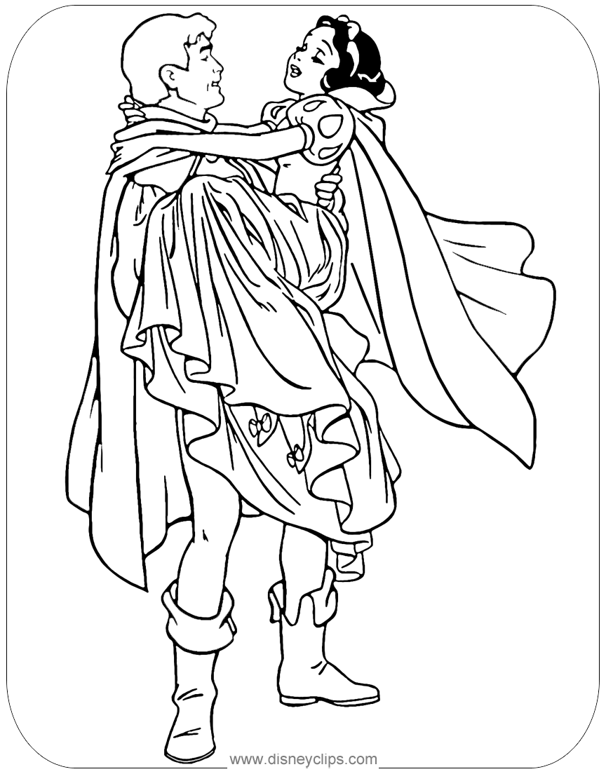 Snow White Coloring Pages Disneyclips