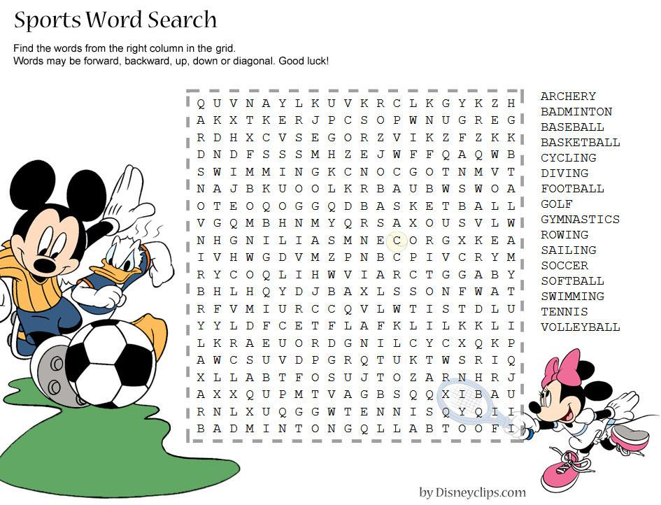 Printable Disney Word Search Games 2 Disney 39 s World of