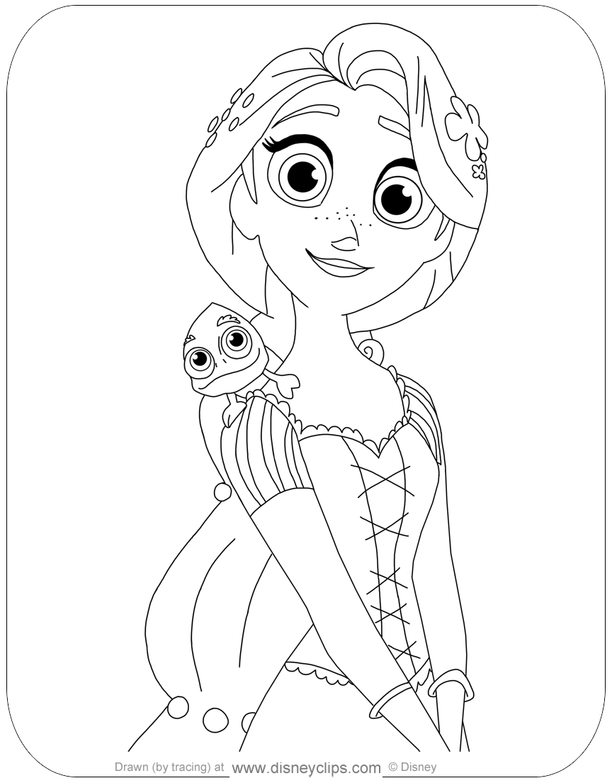 Tangled: The Series Coloring Pages | Disneyclips.com