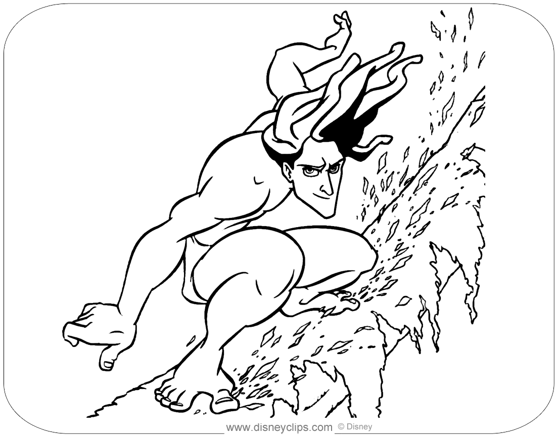 Disney S Tarzan Coloring Pages Disneyclips Com