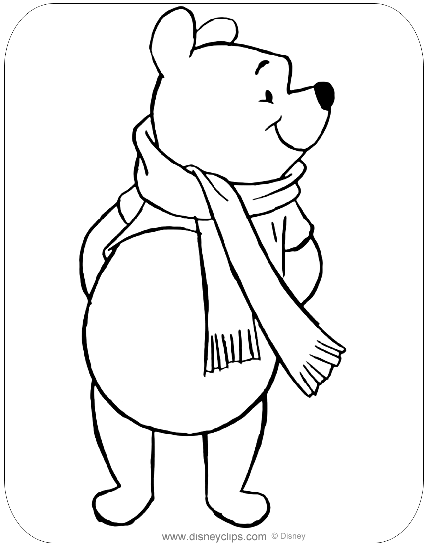 winnie the pooh coloring pages  disney's world of wonders
