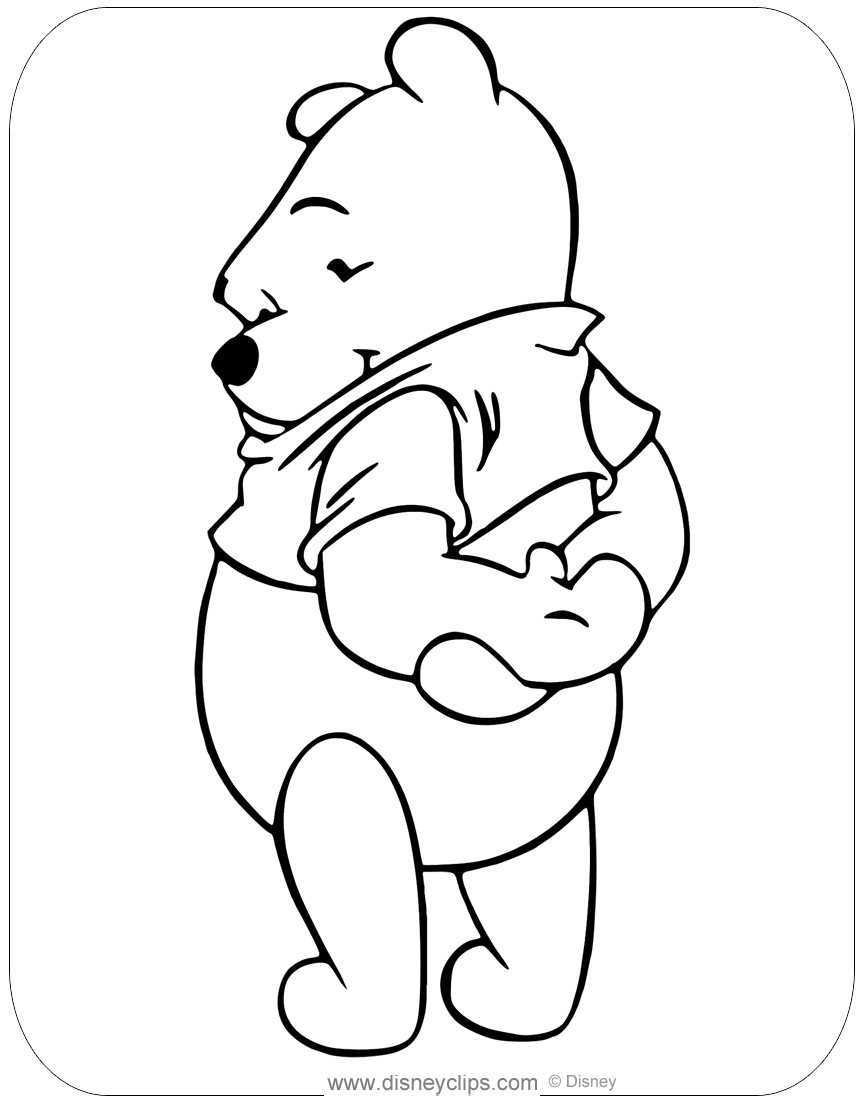 Winnie the Pooh Coloring Pages  Disneyclips.com