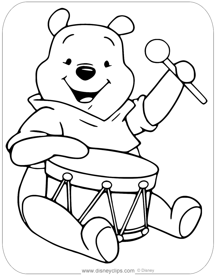 Winnie the Pooh Coloring Pages | Disneyclips.com
