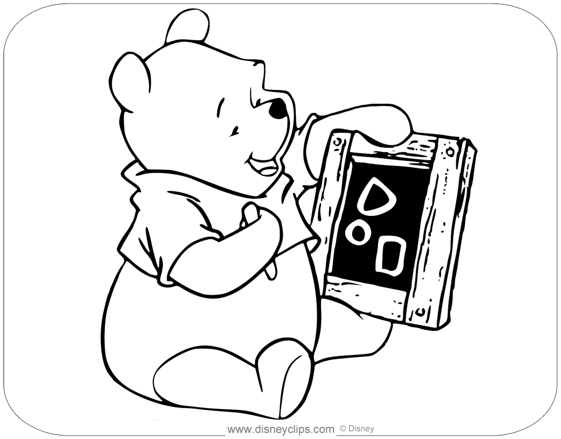 winnie the pooh coloring pages  disneyclips