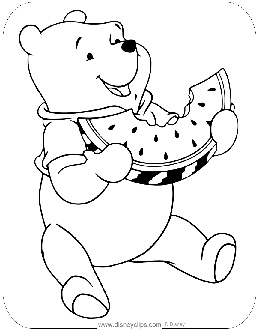 Cartoon Design: Disney Coloring Pages : Winnie The Pooh and ... | 1104x864
