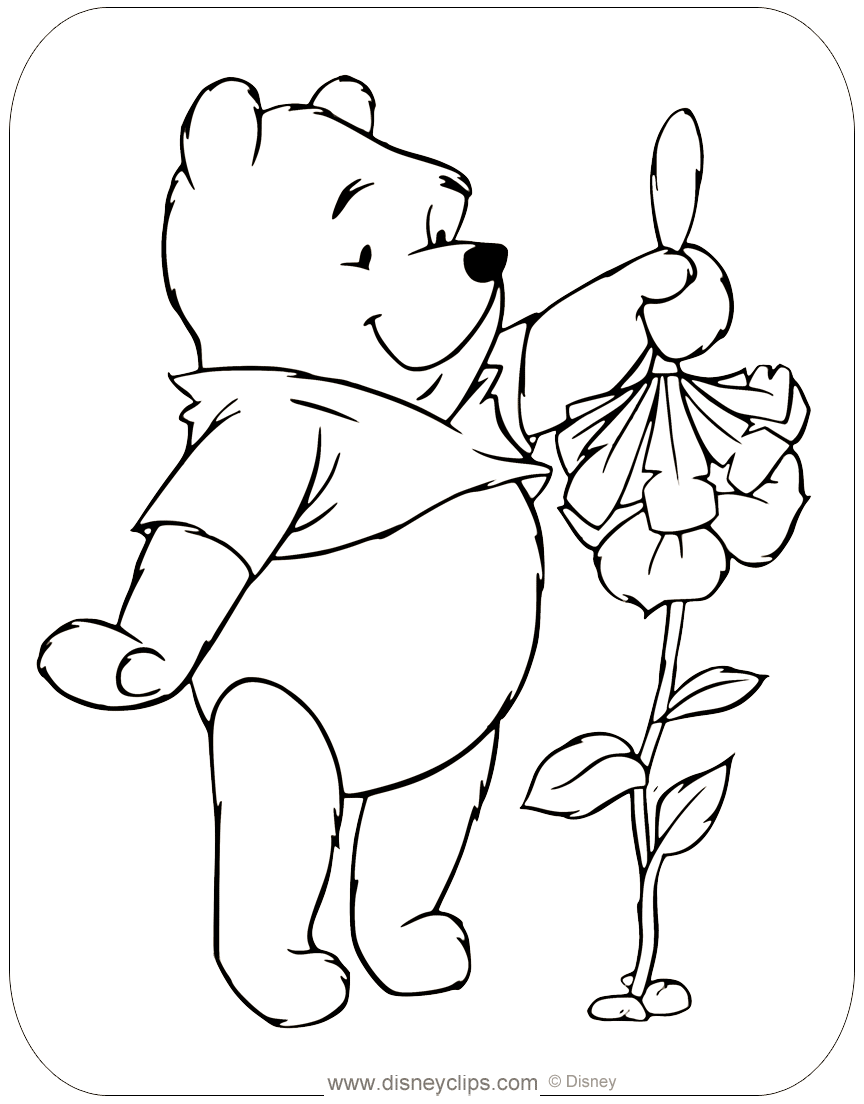 winnie the pooh misc activities coloring pages