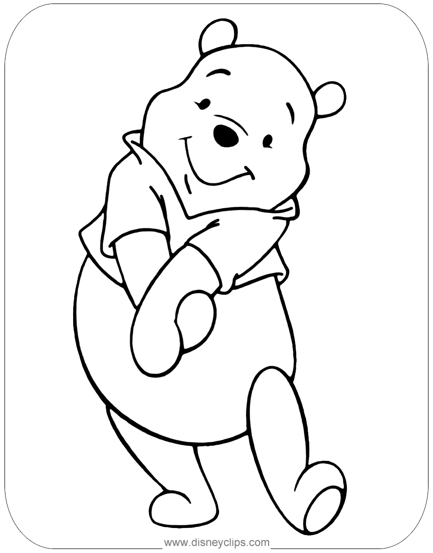 Misc. Winnie the Pooh Coloring Pages | Disneyclips.com