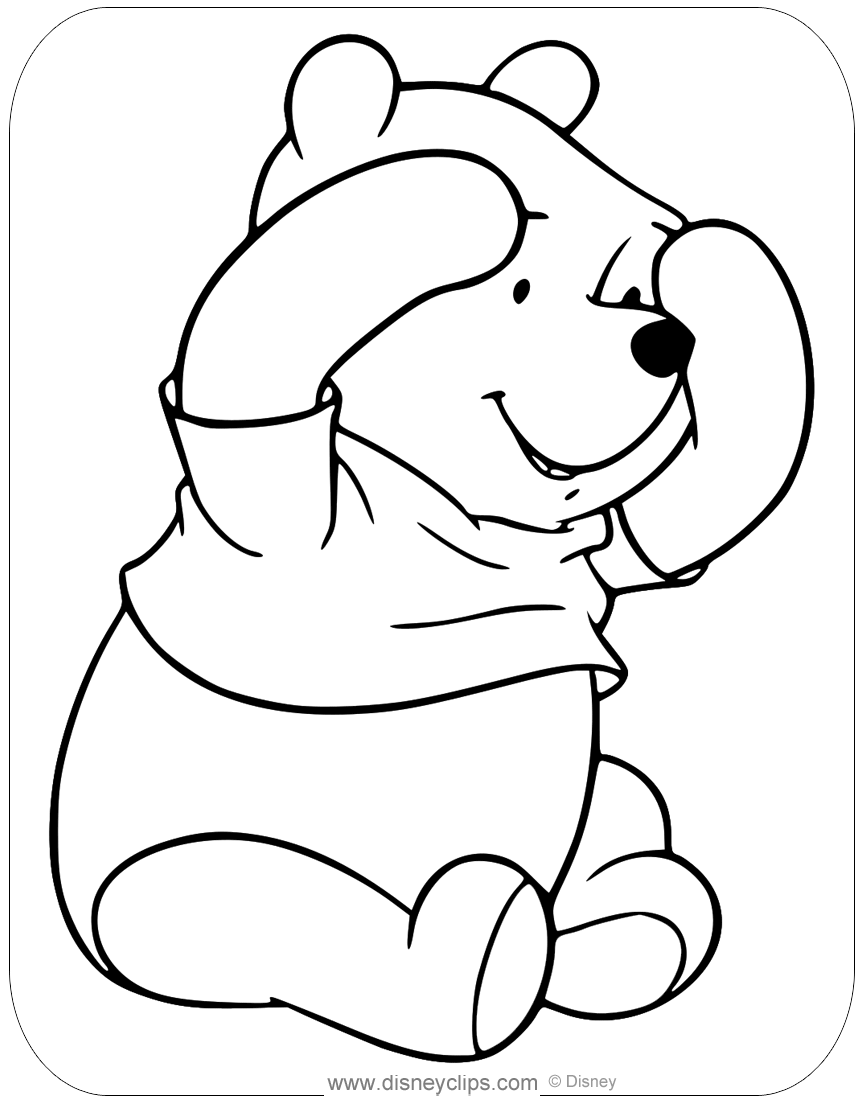 Winnie the Pooh Fun and Games Coloring Pages | Disneyclips.com