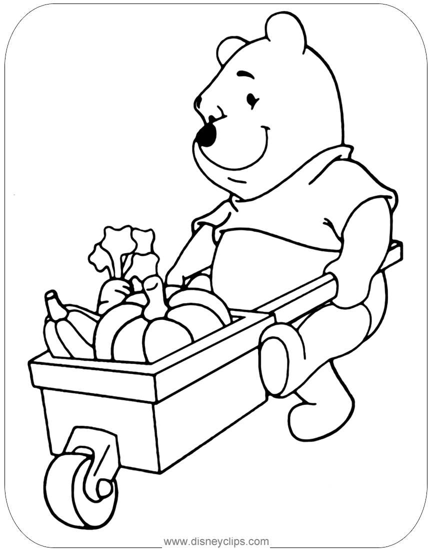 Winnie the Pooh Coloring Pages: Misc. Activities ...