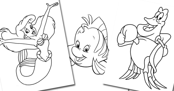 The Little Mermaid Coloring Pages 4 Disneyclips Com