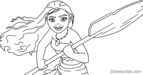 Disneys Moana Coloring Pages