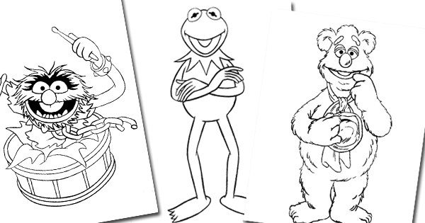 free online muppet coloring pages - photo#23
