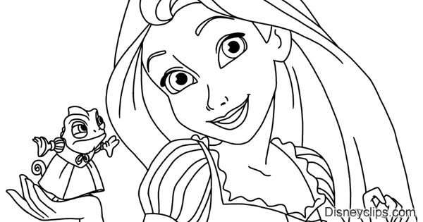 Disney S Tangled Coloring Pages Disneyclips Com