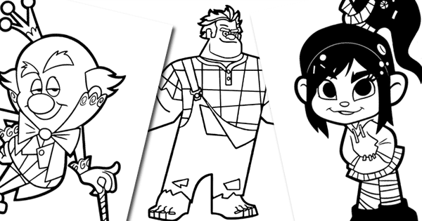 WreckitRalph Coloring Pages Disneyclips