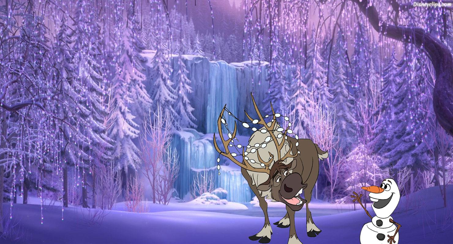Frozen desktop wallpaper disneys world of wonders elsa in her ice palace frozen wallpaper voltagebd Choice Image