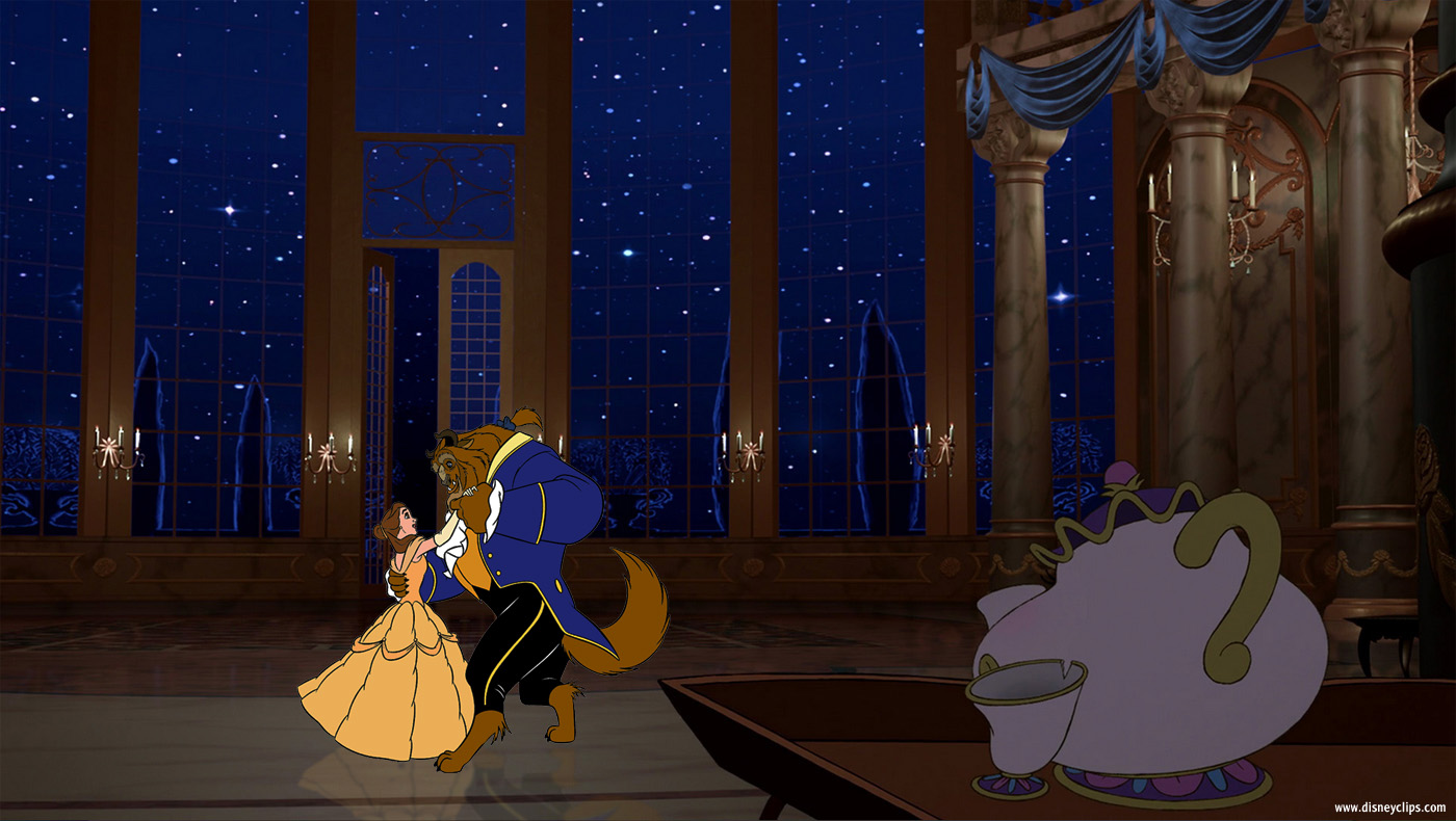 The Beast In Tower Beauty And Wallpaper Belle Dancing